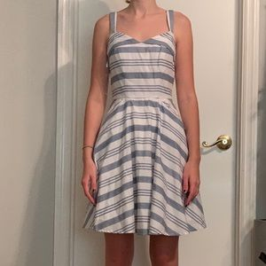 Altered state white and blue dress